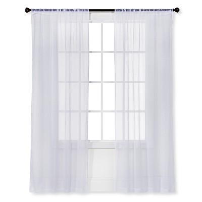 Sheer Curtain snow white sheer curtain panel crinkle - room essentials™ : target TAWPRJA