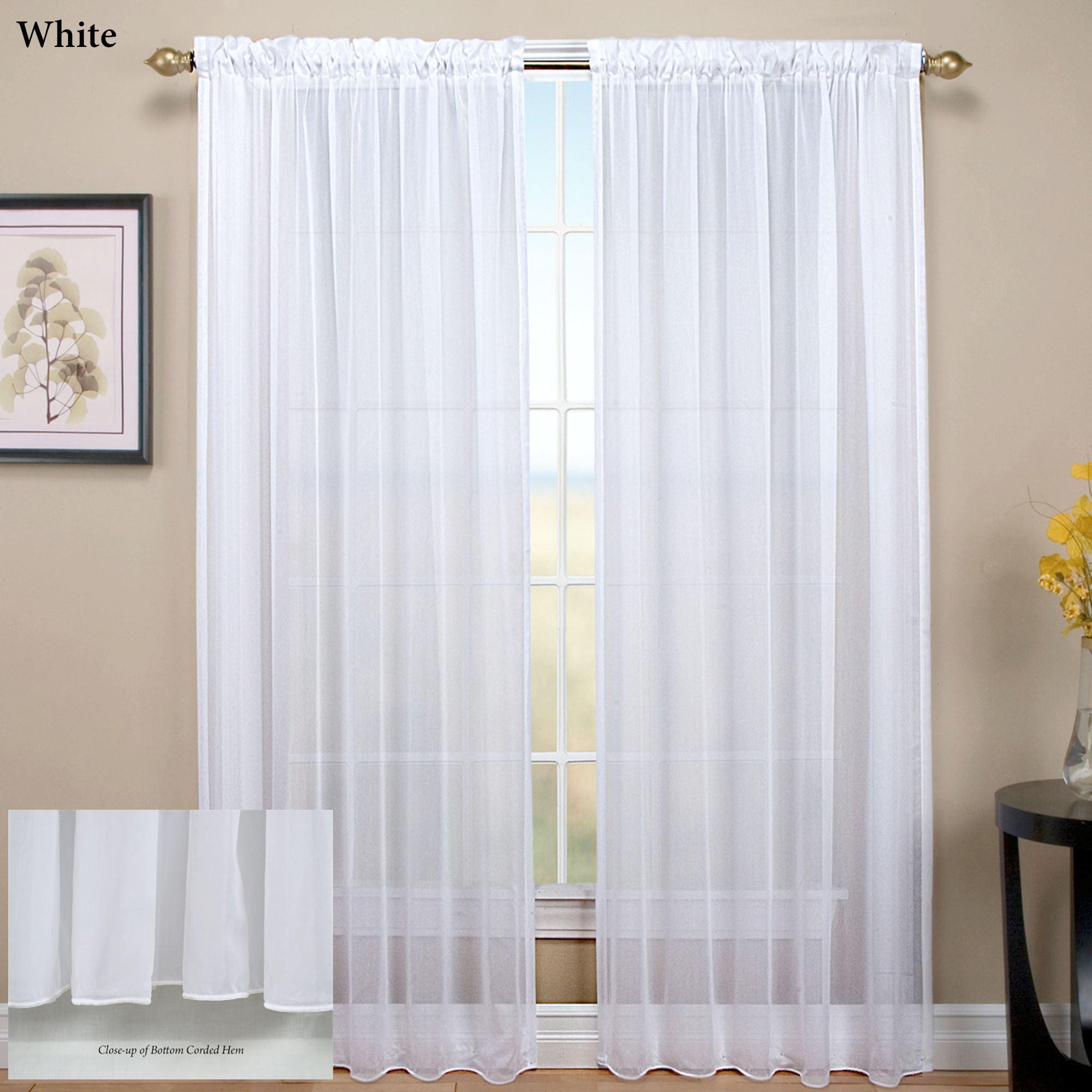 Sheer Curtain tergaline sheer curtain panel BLUQXBR
