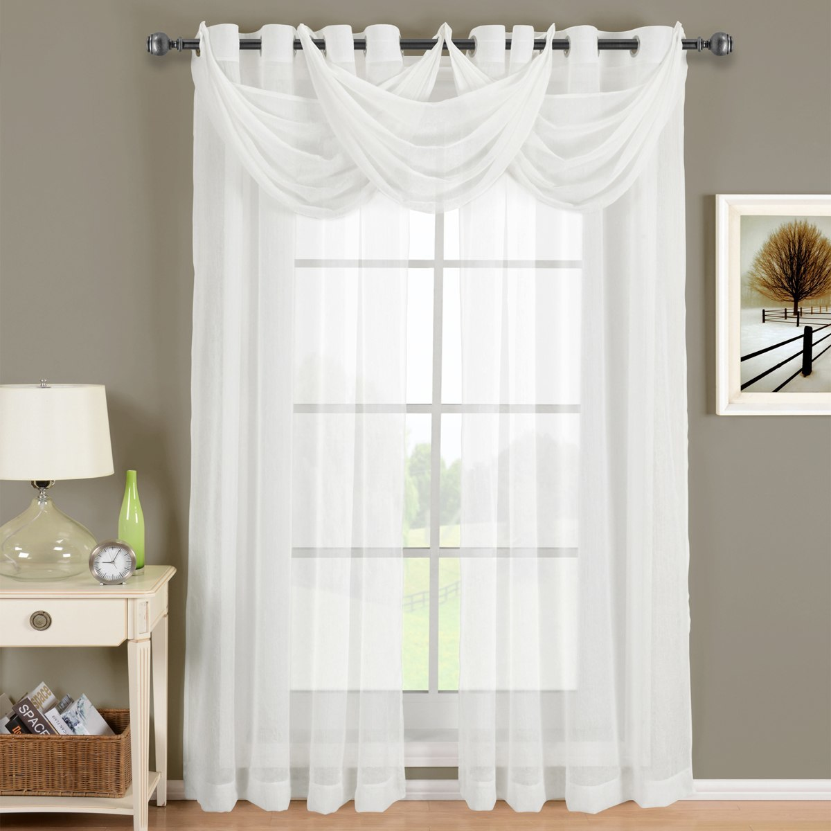 Sheer Curtain white-abri-grommet-crushed-sheer-curtain-panel-single ... BQZBIGX
