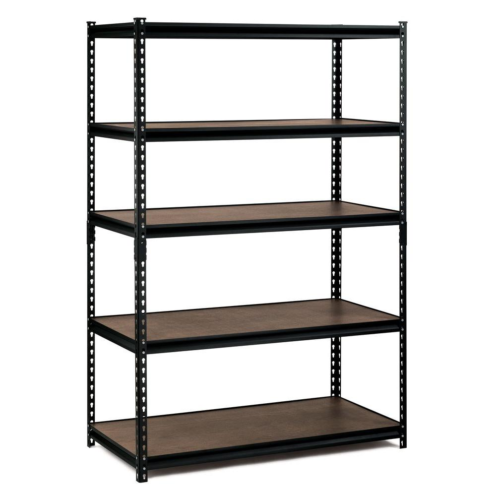 shelving units edsal 72 in. h x 48 in. w x 24 in. d 5 HZTJELQ