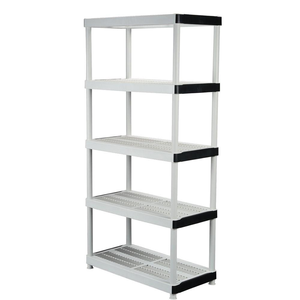 shelving units hdx 36 in. w x 72 in. h x 18 in. d 5 XSAYWWB