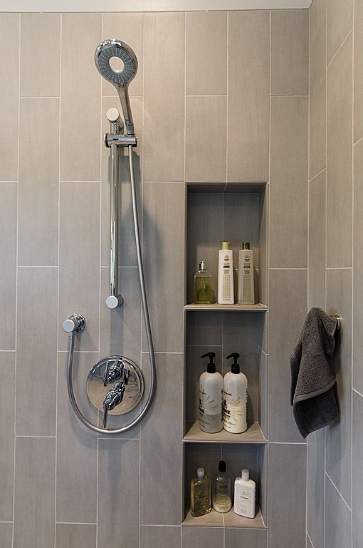 shower shelves contemporary 3/4 bathroom - found on zillow digs. what do you think? QVZOYZF
