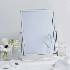 silver plated dressing table mirror WOUTLZC