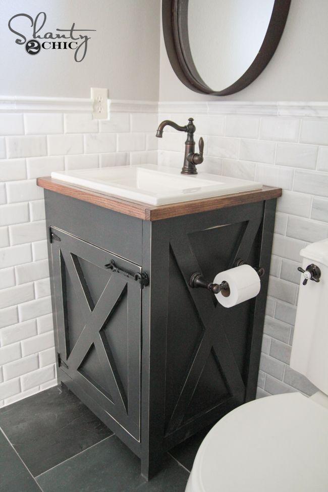 Small Bathroom Vanities stylish bathroom vanities for small spaces diy farmhouse bathroom vanity  plsvckx LUIZEAR