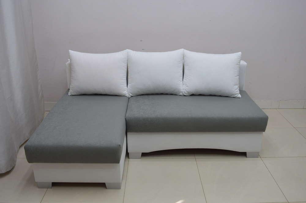 Small Corner Sofa small corner sofa bed picco, white/ dk grey suedline fabric EGTCATL