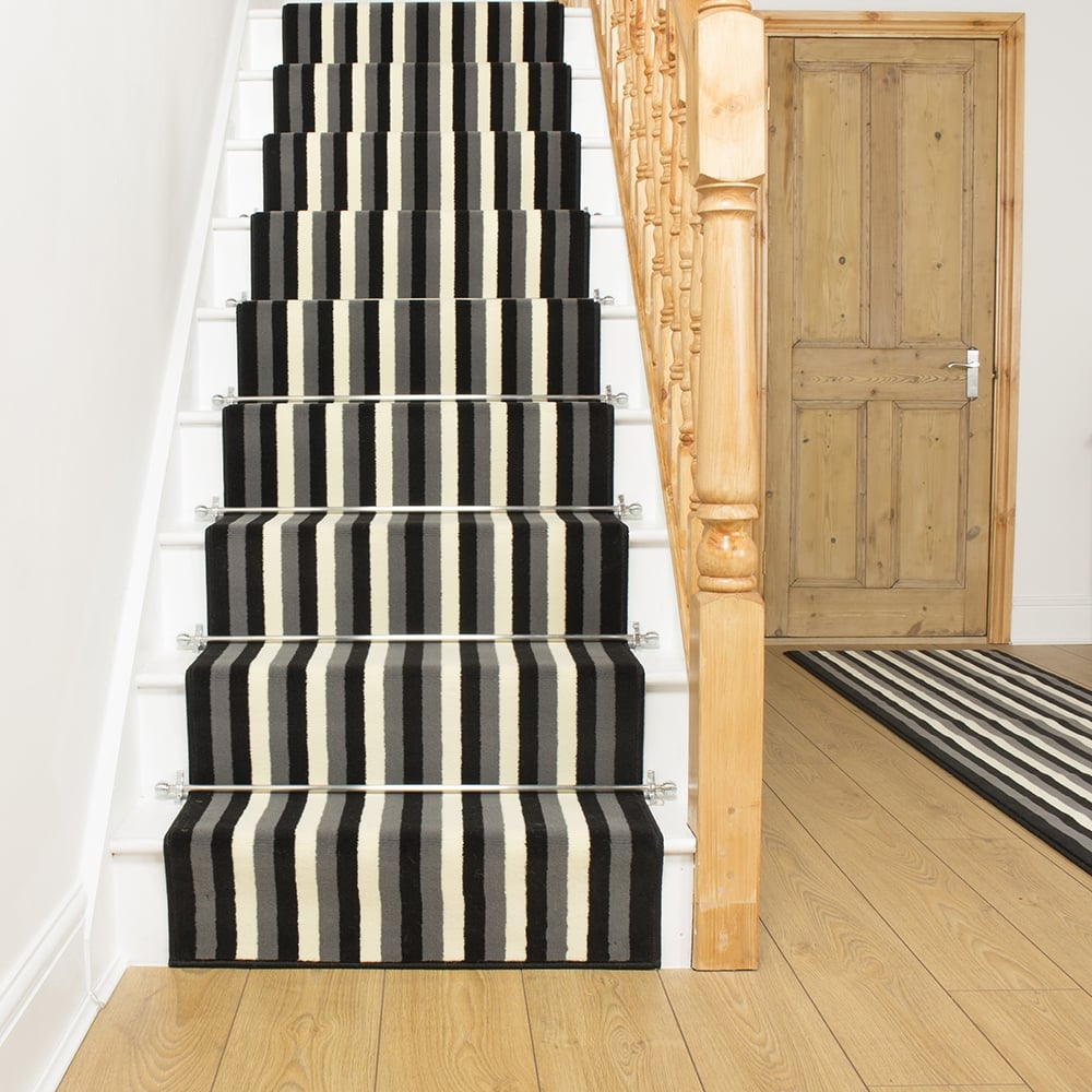 stair carpet broad 10 black stair runner MWIXLDV