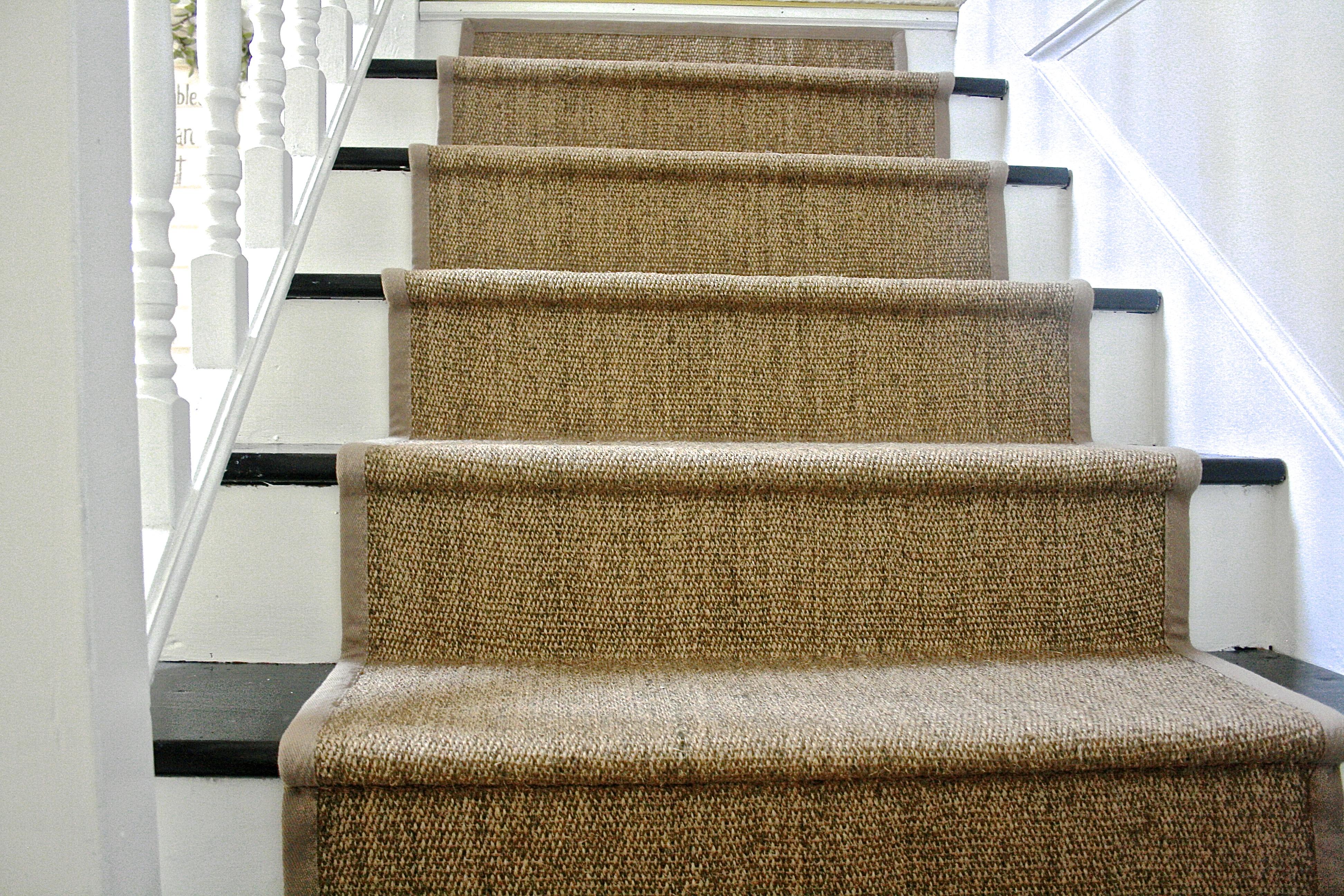 stair runners diy ikea jute rug stair runner TLIRFAS