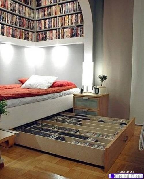 Storage Solutions for Bedroom as is this highly creative use of picture rails to store clothing and MQIZLPA