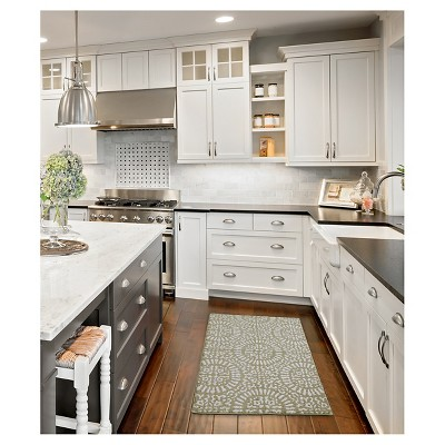 tan medallion kitchen rugs - threshold™ : target DTZITSQ