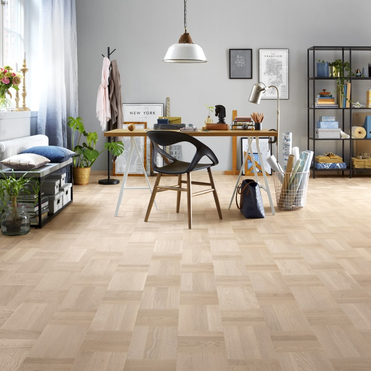 tarkett atelier noble oak scandinavian white parquet flooring RPERBHK