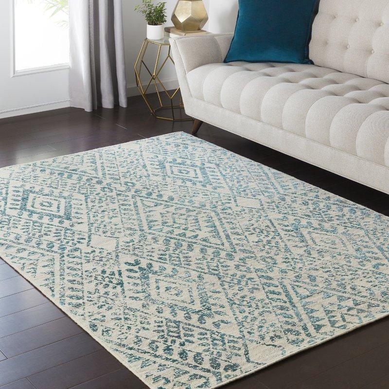 teal area rug puran teal/cream area rug KKYNIHJ