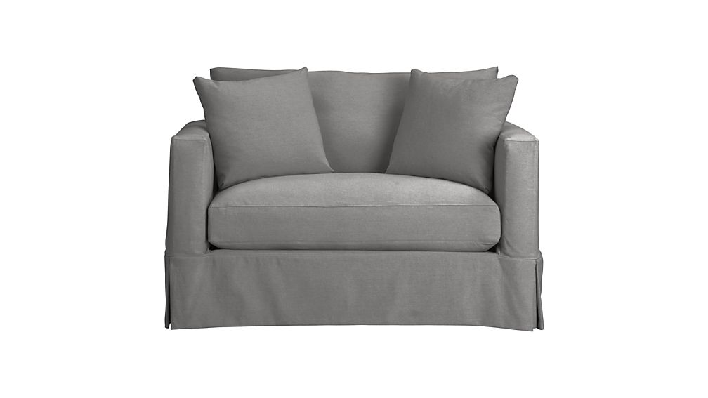 Twin Sleeper Sofa willow grey twin sofa sleeper with air mattress + reviews | crate and SRQCSKD