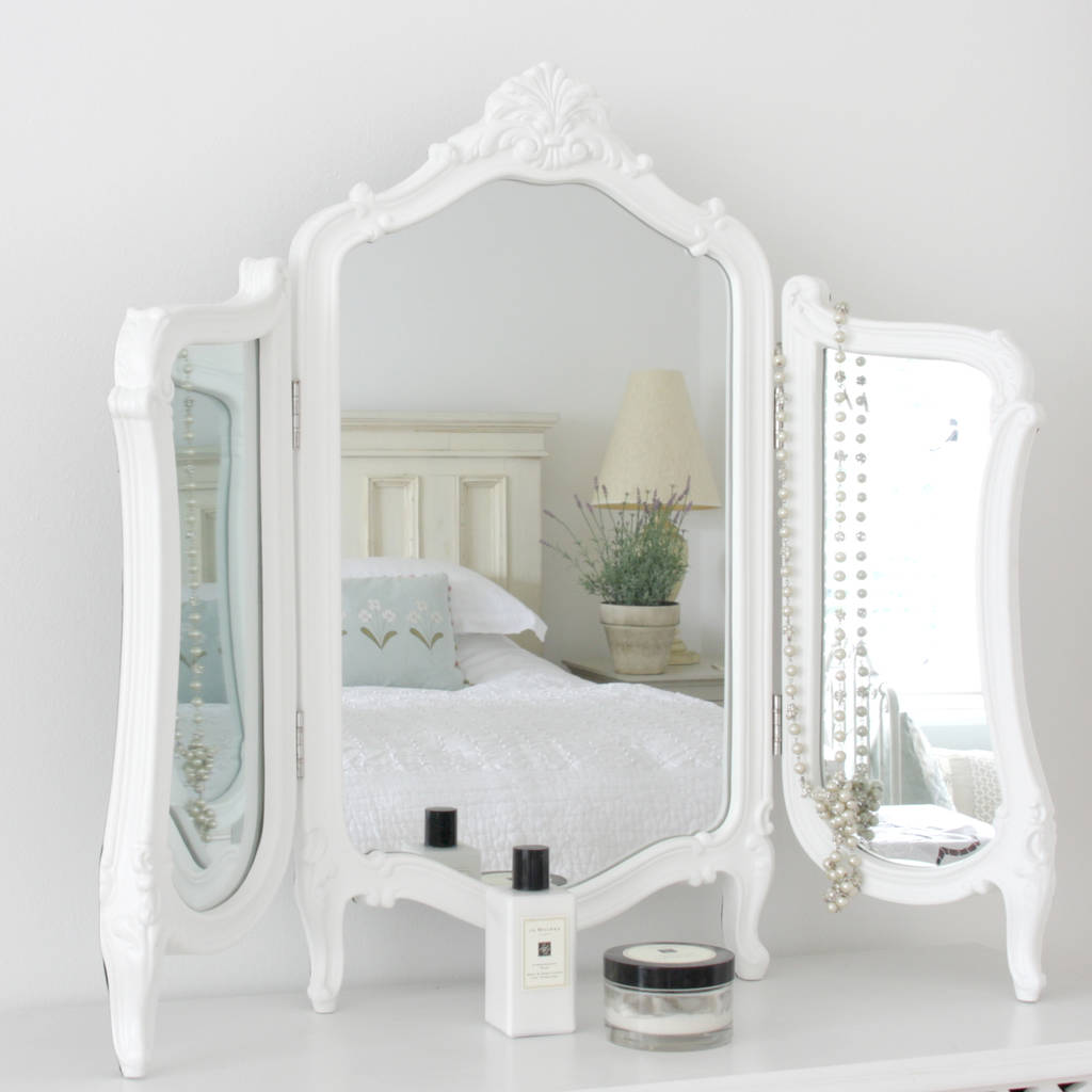 valentina white dressing table mirror UJXOLZL