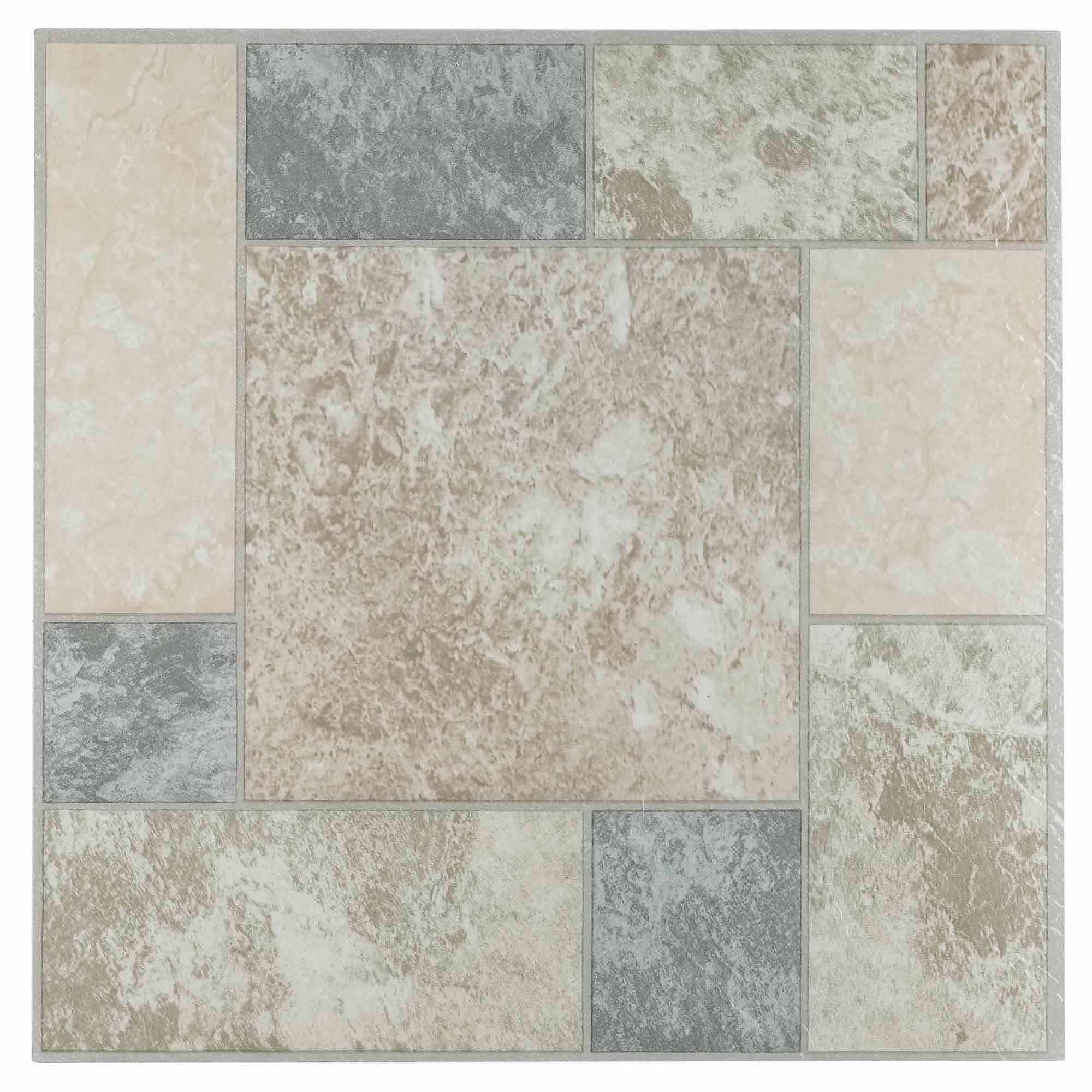 vinyl floor tiles nexus marble blocks 12x12self adhesive vinyl floor tile - 20 tiles/20  sq.ft. XMNSZYN