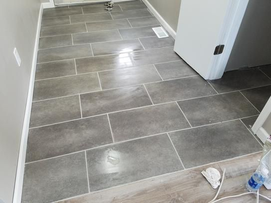 vinyl tile flooring bathroom trafficmaster ceramica 12 in. x 24 in. coastal grey vinyl tile flooring (29 ZBFTBPP