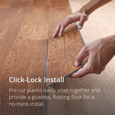 vinyl wood flooring click lock RUDOSNC