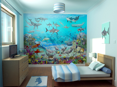 wall decoration theme it is important to match the mural with the overall theme of the INXNMTY