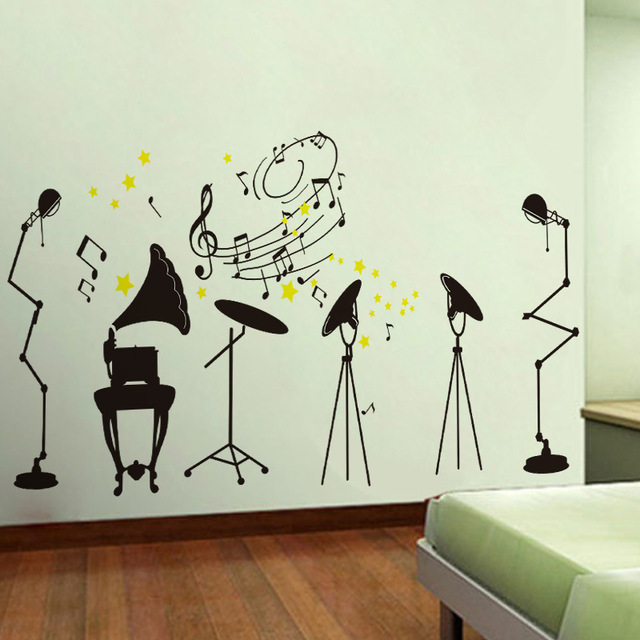 wall decoration theme personalized fashion creative music theme wall stickers living room art  wall decoration UVCTGOK