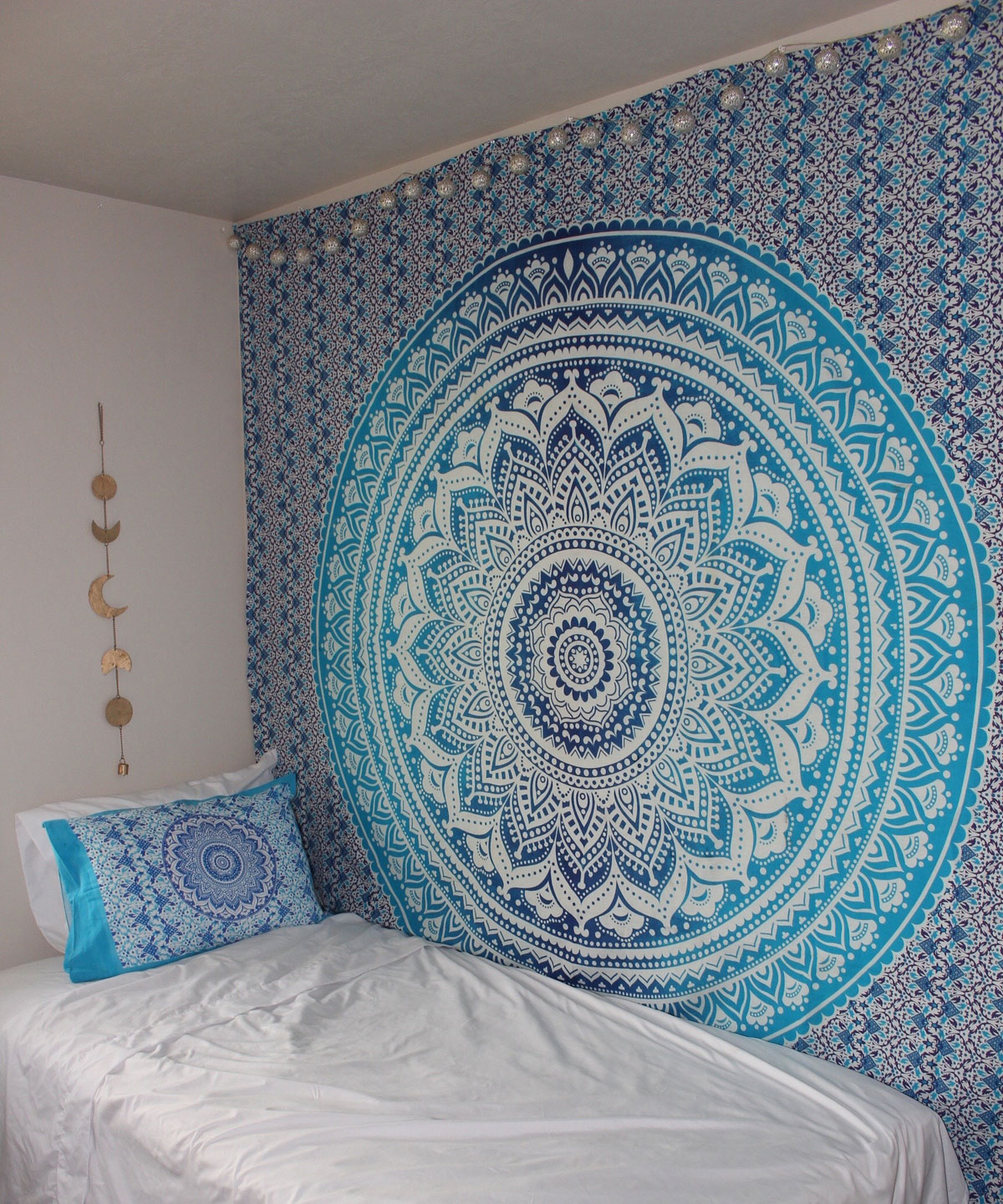 Wall Hangings blue multi indian ombre mandala wall tapestry, hippie bedding -  royalfurnish.com XECILOE