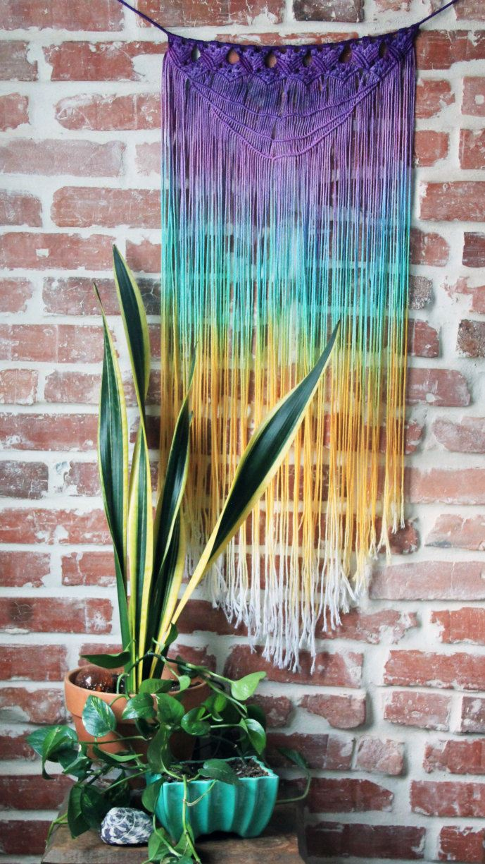 Wall Hangings view in gallery macrame wall hanging from etsy shop slow down productions UBMZHMF
