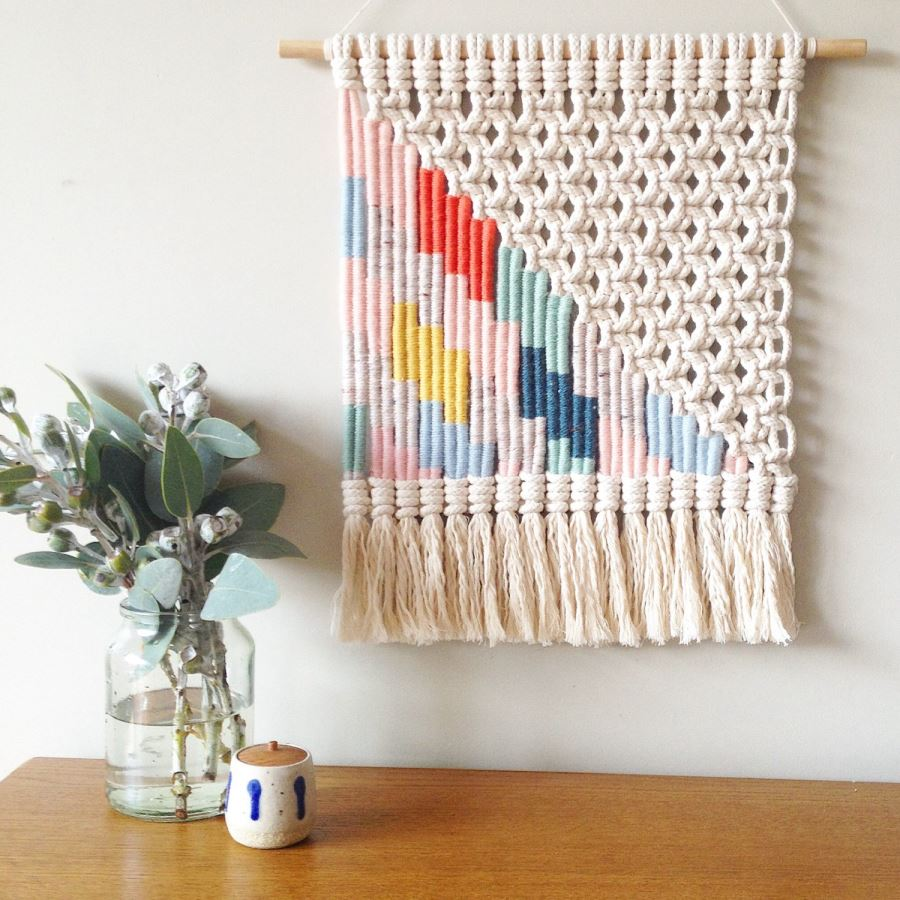 Wall Hangings view in gallery woven wall hanging from etsy shop kate and feather RUBHKPV