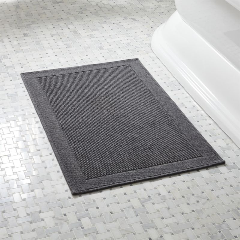 westport grey bath rug + reviews | crate and barrel FIDEISW