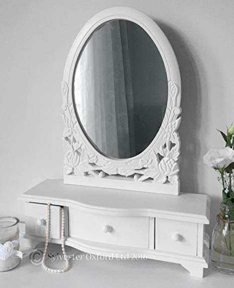 white dressing table mirror with drawers ERESIUP