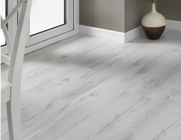 Contemporary white laminate flooring