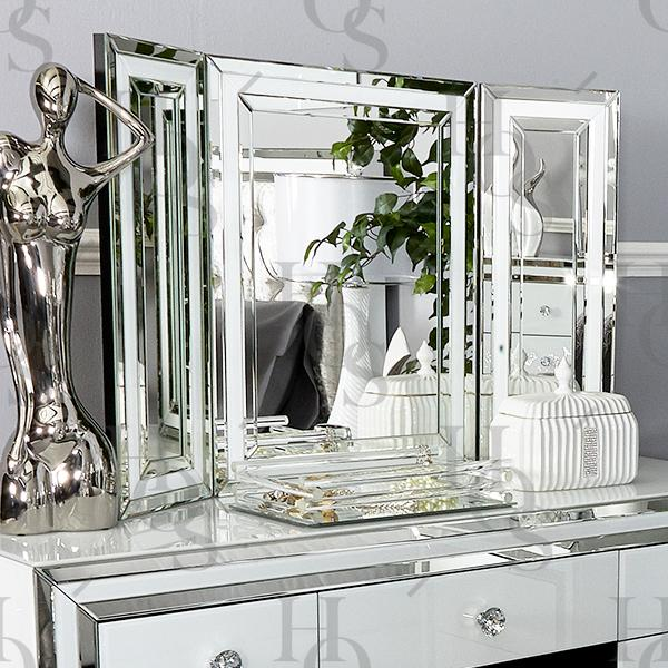 white seattle dressing table mirror ... RCDIMHR