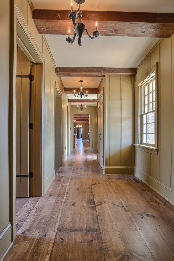 wide plank hardwood flooring wide plank wood flooring | interior hallway | classic colonial homes  architecture WAHGMDF