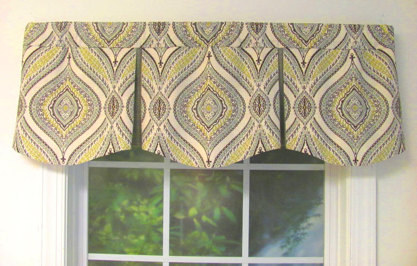 Window valances monica greystone curved box pleat valance GXEQKAP