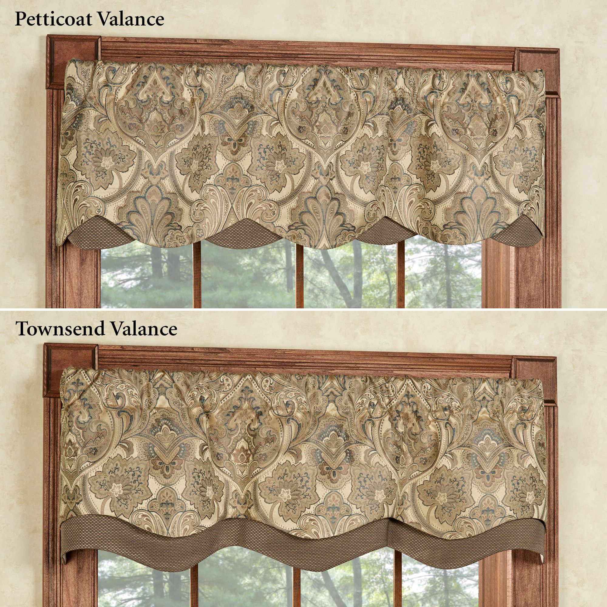 Window valances overview. the lined hollyhock gold layered window valances ... FIPQYSI