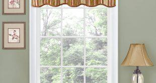 Window valances traditions by waverly stripe ensemble scalloped window valance - walmart.com UITMKKU