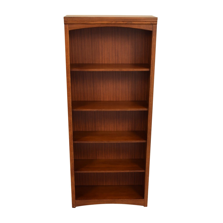 Wooden Bookcases bassett bassett wooden bookshelf price; bassett wooden bookshelf / bookcases  u0026 shelving OKJRYVN