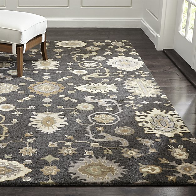 wool rugs juno grey patterned wool rug | crate and barrel NFNGVTV