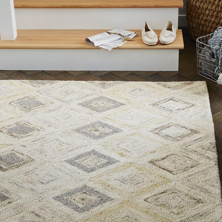 wool rugs prism wool rug - soot | west elm PWLOCSV