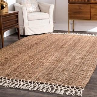 wool rugs the gray barn antelope springs chunky jute and wool tassel area rug - KSEMXSD