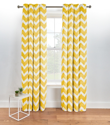 Yellow Curtains chevron eyelet curtains - yellow XQJSPCM