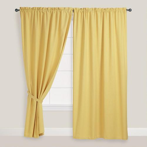 Yellow Curtains cornsilk chelsea curtains, set of 2 - world market EGZVNXM