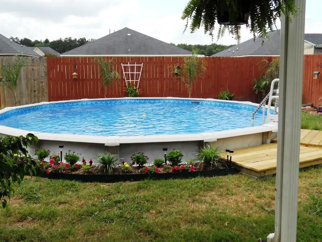 above ground pool landscaping ideas on a budget cheap above ground pool landscaping ideas ETMTSDJ