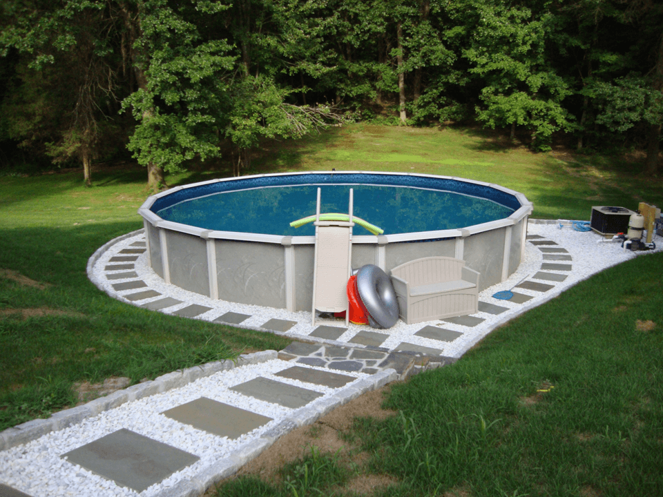above ground pool landscaping ideas on a budget image of: small above ground pool landscaping NYRDTSM