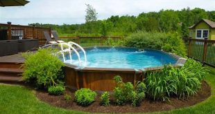 above ground pool landscaping ideas on a budget landscaping around an above ground pool GUKOCIK