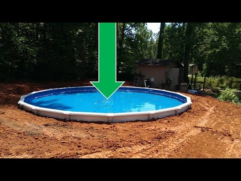 above ground pools that look like in ground dropping an above ground pool in the ground (the details) CONGTPS