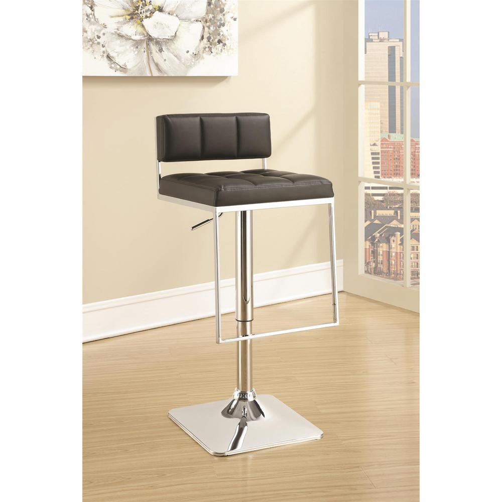 adjustable bar stools with backs and arms coaster rec room adjustable black low-back no arms bar stool NYNRFRA