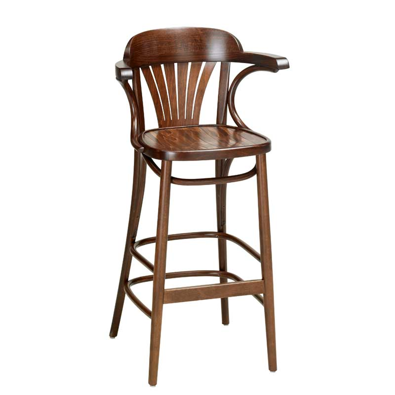 adjustable bar stools with backs and arms fan back bentwood bar stool with arms indoor and outdoor pertaining to stools BFJEPHR
