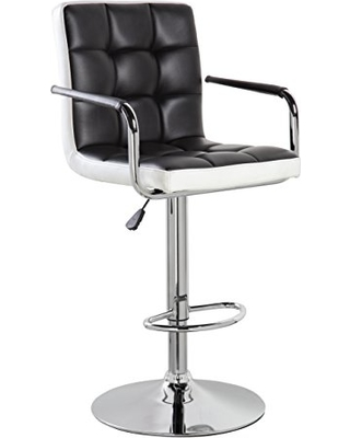 adjustable bar stools with backs and arms kerland leather swivel adjustable height bar stools dinning chairs with back  and CMGNPRU