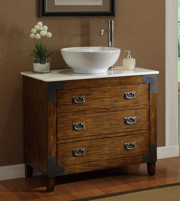antique bathroom vanity with vessel sink image of astonishing antique bathroom vanity vessel sink with teak wood  dresser NUDUIOQ