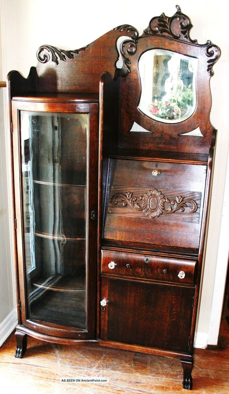 antique drop front secretary desk with bookcase gorgeous american antique drop front oak secretary desk side by side  bookcase TLMQNVC