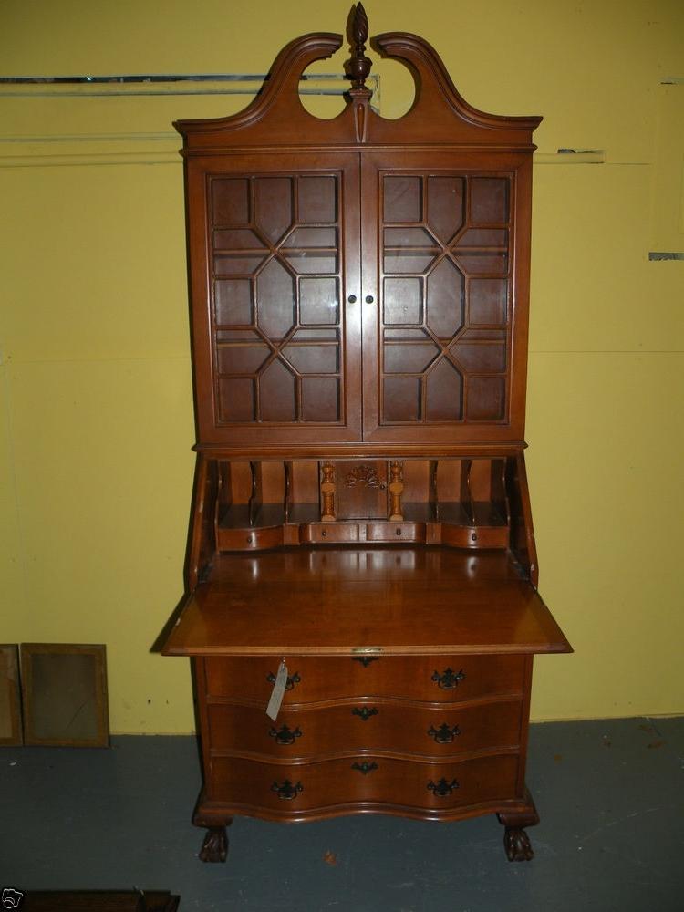 antique drop front secretary desk with bookcase jamestown ny for trendy antique drop front secretary desk with bookcases  (view GGOAHFD