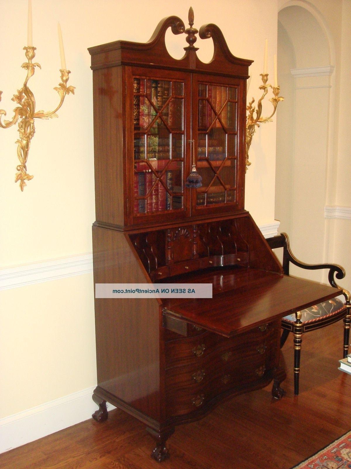 antique drop front secretary desk with bookcase recent antique drop front secretary desk with bookcases regarding antique  secretary desk PJMKEZC